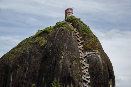Climbing El Penol is a must thing to do in Colombia.