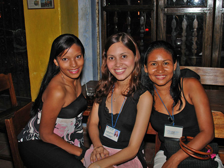 A photo of three beautiful girls from Medellin